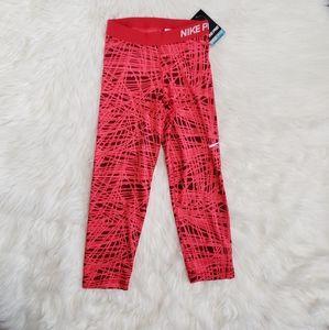 NWT Nike Pro Vibrant Workout Pants Capris!